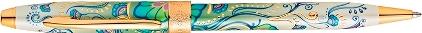 Stylo bille Botanica lys vert plaqué or de Cross, cliquez pour plus de détails sur ce stylo...