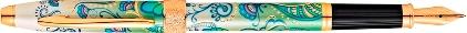 Stylo plume Botanica lys vert plaqué or de Cross, cliquez pour plus de détails sur ce stylo...