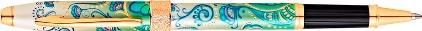 Roller Botanica lys vert plaqué or de Cross, cliquez pour plus de d�tails sur ce stylo...
