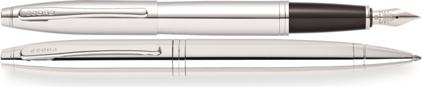 Parure Calais Bille/Plume chrome de Cross, cliquez pour plus de d�tails sur ce stylo...