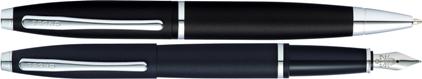Parure Calais Bille/plume noir mat de Cross, cliquez pour plus de d�tails sur ce stylo...