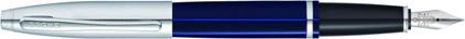Stylo plume Calais laque bleue attributs chromés de Cross