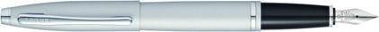 Stylo plume Calais satin chrome de Cross, cliquez pour plus de d�tails sur ce stylo...