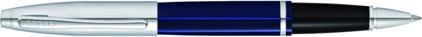 Roller Calais laque bleue attributs chromés de Cross