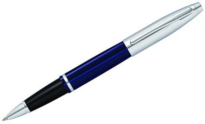 Roller Calais laque bleue attributs chromés de Cross - photo.
