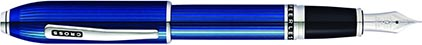Stylo plume Peerless laque gravée bleue de Cross