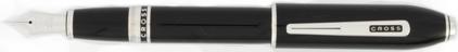 Stylo plume noir laqué Obsidian de Cross, cliquez pour plus de détails sur ce stylo...
