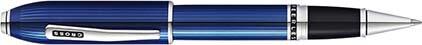Roller Peerless laque gravée bleue de Cross