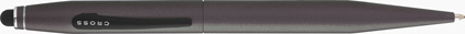 Stylo multifonction : Stylet numérique et stylo bille Tech2 gris titanium de Cross, cliquez pour plus de d�tails sur ce stylo...