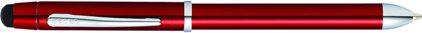 Stylo multifonction Tech3 + guilloché laque rouge, cliquez pour plus de d�tails sur ce stylo...