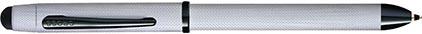 Stylo multifonction Tech3+ chromé brossé diamant de Cross, cliquez pour plus de d�tails sur ce stylo...