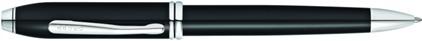 Stylo bille Townsend laqué noir plaqué rhodium de Cross, cliquez pour plus de détails sur ce stylo...