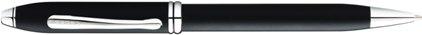 Stylo bille Townsend noir soft touch de Cross, cliquez pour plus de détails sur ce stylo...