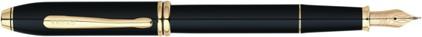 Stylo plume Townsend laqué noir plaqué or de Cross, cliquez pour plus de d�tails sur ce stylo...