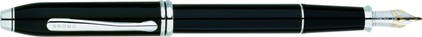 Stylo plume Townsend laqué noir plaqué rhodium de Cross, cliquez pour plus de d�tails sur ce stylo...