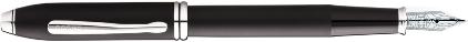 Stylo plume Townsend noir soft touch de Cross, cliquez pour plus de détails sur ce stylo...