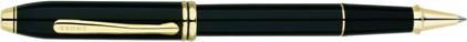 Roller Townsend laqué noir plaqué or Cross, cliquez pour plus de d�tails sur ce stylo...
