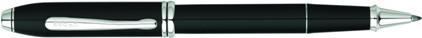 Roller Townsend laqué noir plaqué rhodium de Cross, cliquez pour plus de détails sur ce stylo...