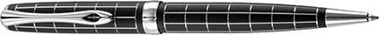 Stylo Bille Excellence A+ Rhomb guilloché lapis noir chrome de Diplomat