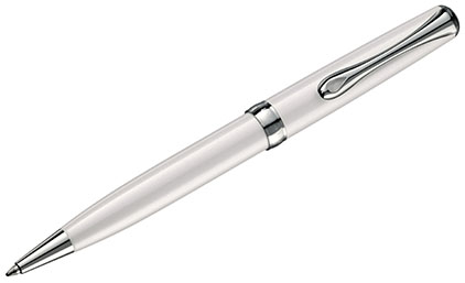 Stylo bille Excellence A2 blanc perle de Diplomat - photo.