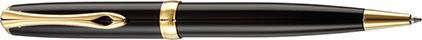 Stylo bille Excellence A2 laqué noir attributs dorés de Diplomat, cliquez pour plus de d�tails sur ce stylo...