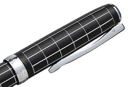 Stylo Plume Excellence A+ Rhomb guilloché lapis noir chrome de Diplomat - photo 4