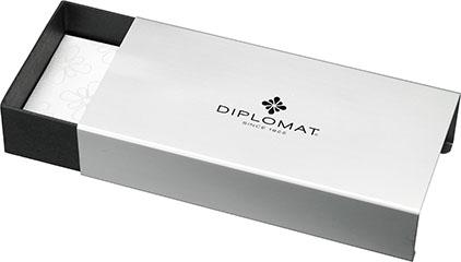 Stylo Plume Excellence A+ Rhomb guilloché lapis noir chrome de Diplomat - photo 5