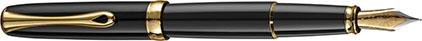 Stylo plume Excellence A2 laqué noir attributs dorés de Diplomat, cliquez pour plus de d�tails sur ce stylo...