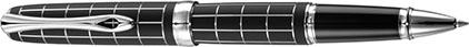 Roller Excellence A+ Rhomb guilloché lapis noir chrome de Diplomat, cliquez pour plus de d�tails sur ce stylo...