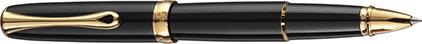 Roller Excellence A2 laqué noir attributs dorés de Diplomat, cliquez pour plus de d�tails sur ce stylo...