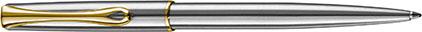 Stylo bille Traveller acier doré de Diplomat, cliquez pour plus de d�tails sur ce stylo...