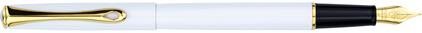Stylo plume Traveller laqué blanc attributs dorés de Diplomat, cliquez pour plus de d�tails sur ce stylo...