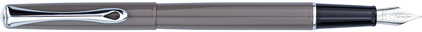 Stylo plume Traveller laqué gris taupe de Diplomat, cliquez pour plus de d�tails sur ce stylo...
