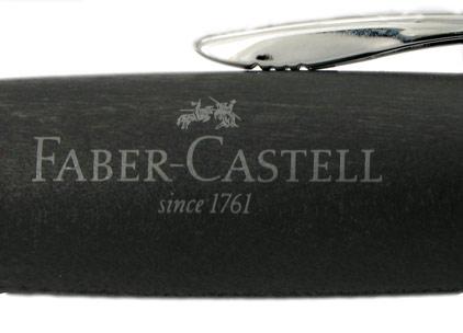 Le stylo bille E-Motion Bois de poirier Nuit et chrome de Faber-Castell - photo 3