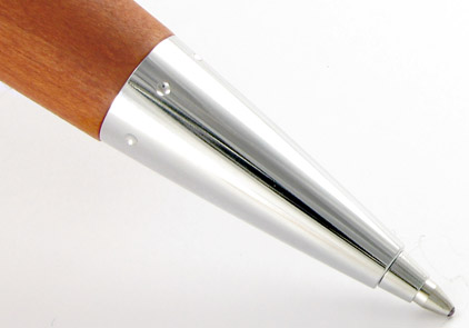Le stylo bille E-Motion poirier d'automne chromé de Faber-Castell - photo.