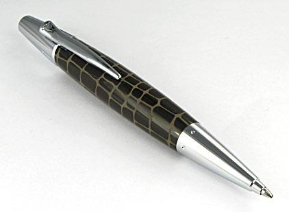 le stylo bille e motion r 233 sine marron type croco de faber