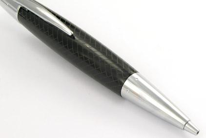 Le stylo bille E-Motion Résine noire type parquet de Faber-Castell - photo 2