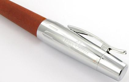 Le stylo plume E-Motion Bois de poirier Automne et chrome de Faber-Castell - photo 3