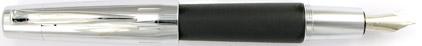 Le stylo plume E-Motion Bois de poirier Nuit et Chrome de Faber-Castell, cliquez pour plus de d�tails sur ce stylo...