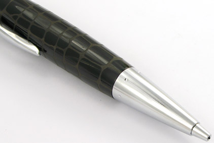 Le portemine E-Motion Résine noire type croco de Faber-Castell - photo.