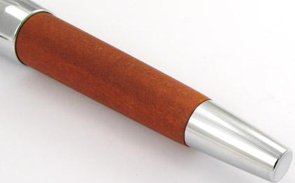 Le roller E-Motion Bois de poirier Automne et chrome de Faber-Castell - photo 2