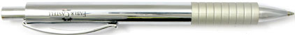 Le stylo bille Basic Métal chromé de Faber-Castell, cliquez pour plus de d�tails sur ce stylo...