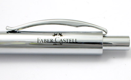 Le portemine Basic Métal chromé de Faber-Castell  - photo.