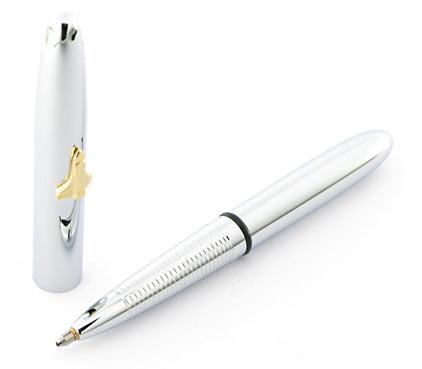 Stylo bille Space Pen Bullet de Fisher chromé avec navette et sans clip - SF 1007 - photo 3