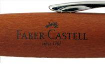 Le stylo bille E-Motion poirier d'automne chromé de Faber-Castell