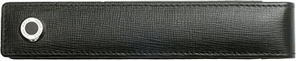 Étui en cuir noir 1 place Tradition de Boss, cliquez pour plus de d�tails sur ce stylo...