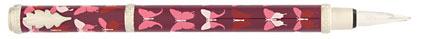 Stylo plume bordeaux papillons Champagne Butterfly de « Inès de la Fressange », cliquez pour plus de détails sur ce stylo...