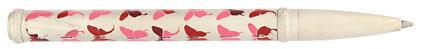 Roller Champagne papillons roses Butterfly de « Inès de la Fressange », cliquez pour plus de détails sur ce stylo...