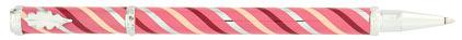 Roller rose tourbillons bordeaux Candy de « Inès de la Fressange », cliquez pour plus de détails sur ce stylo...