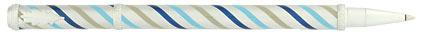 Roller satiné tourbillons bleus Candy de « Inès de la Fressange », cliquez pour plus de d�tails sur ce stylo...